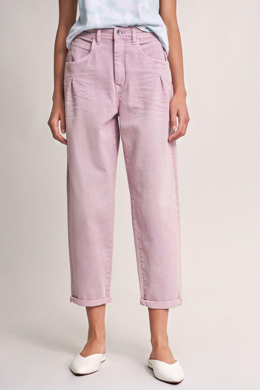 Pantalones Slouchy Capri Con Detalle Vaqueros Salsa Jeans