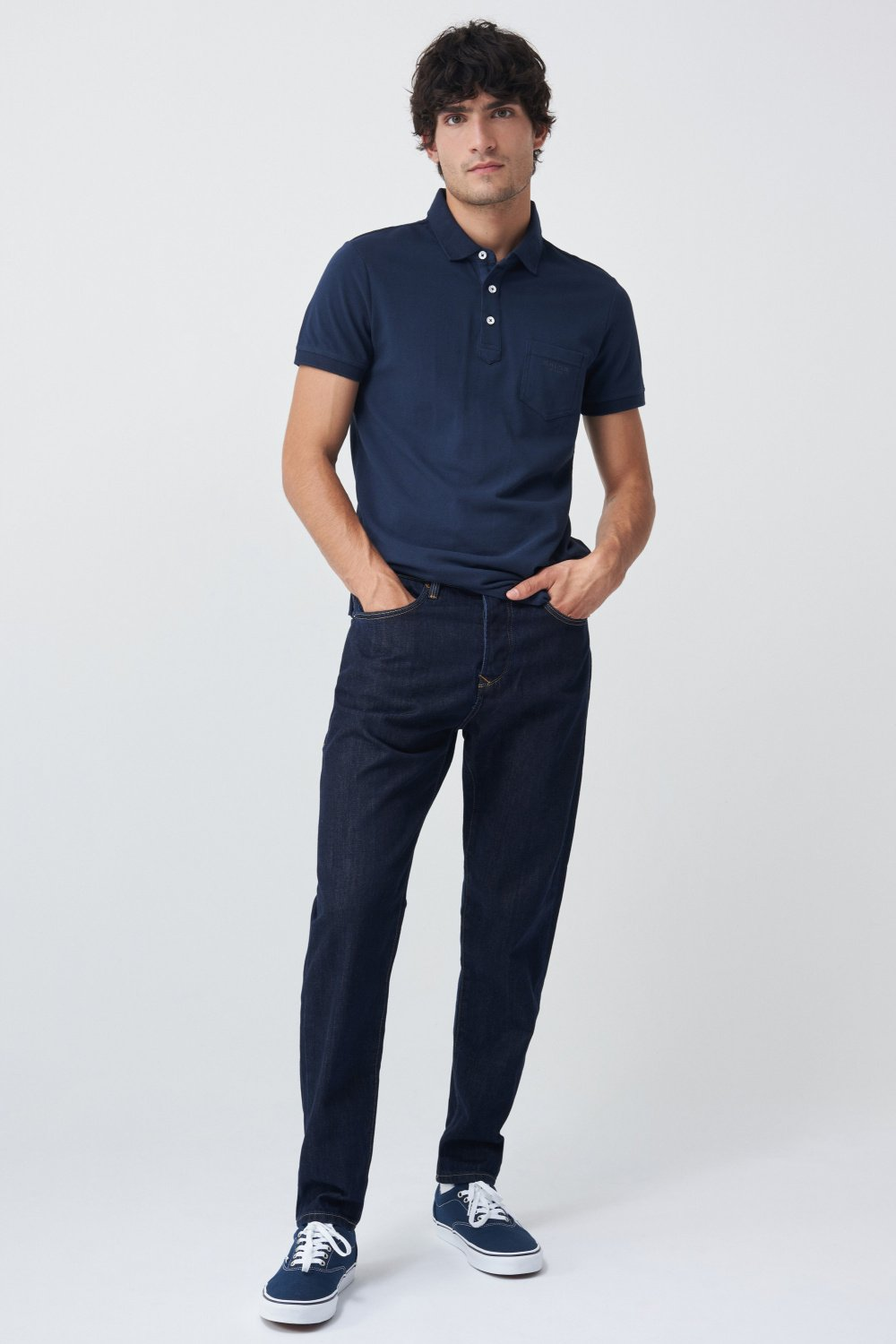 Polo fit regular efecto teñido - Salsa