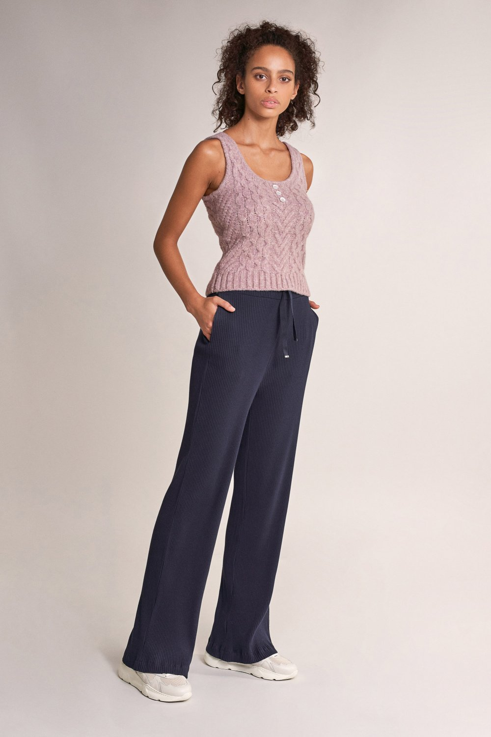 Knit paper bag trousers - Salsa