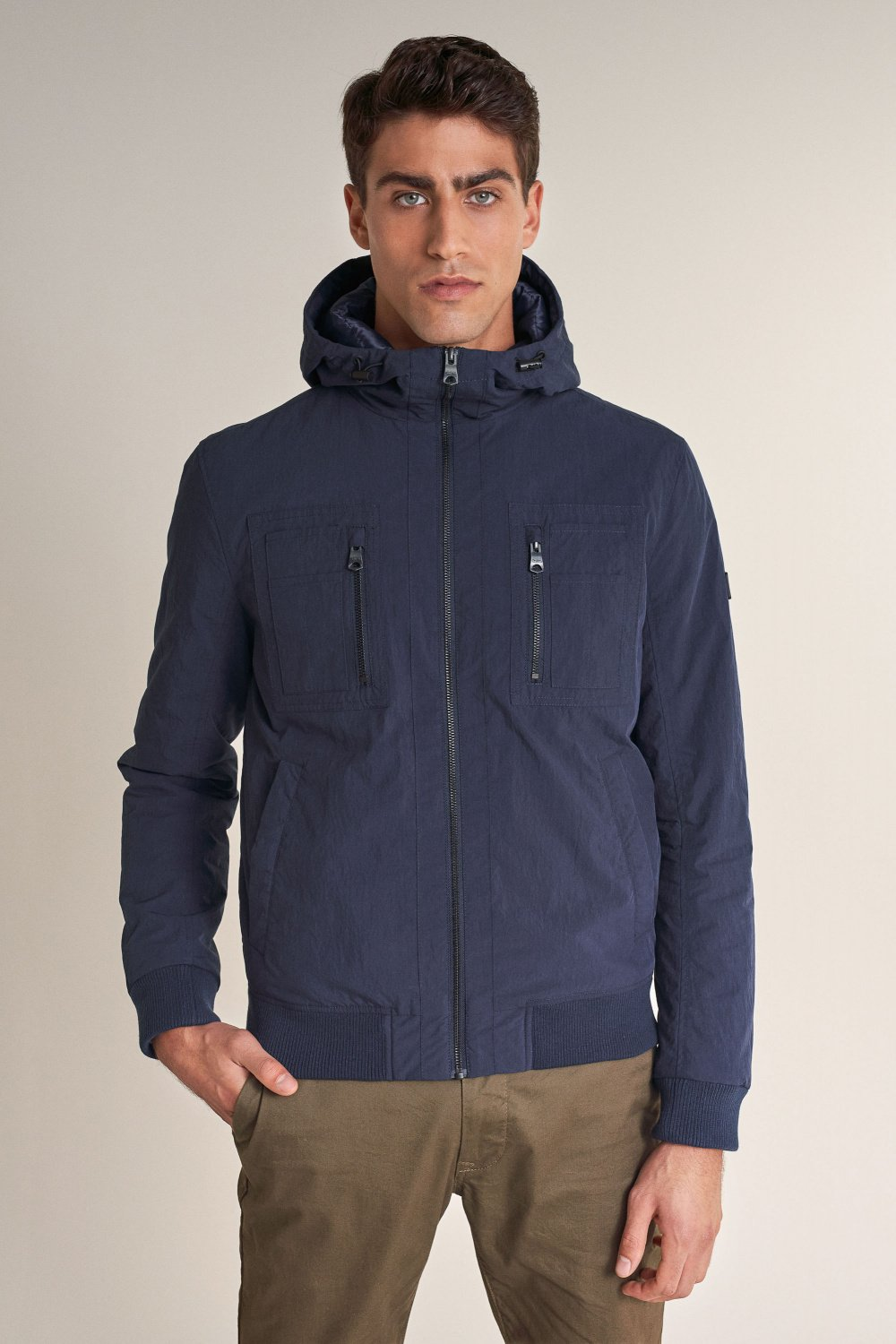 Short wind jacket with hood - Salsa