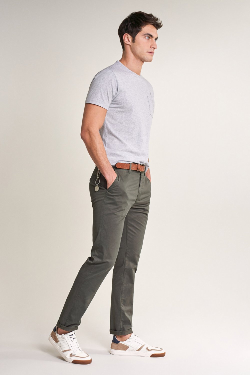 Chinohose Spartan, slim Fit - Salsa