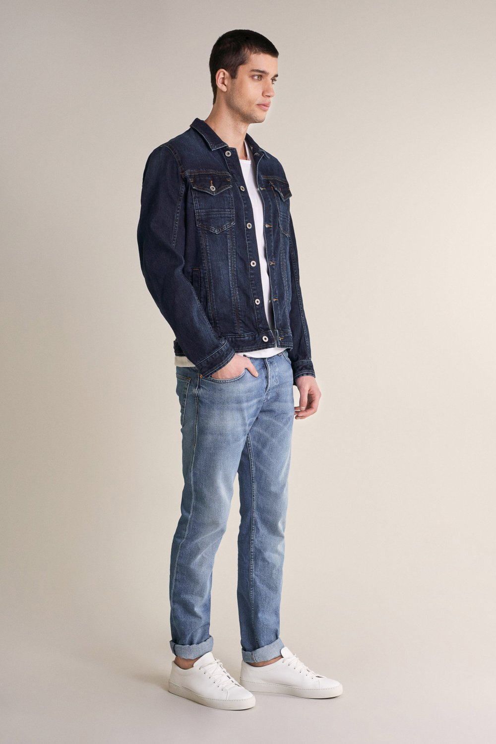 Spartan trucker slim denim jacket - Salsa