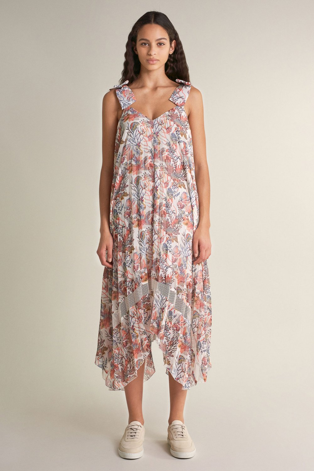 Pleated dress with print - Salsa