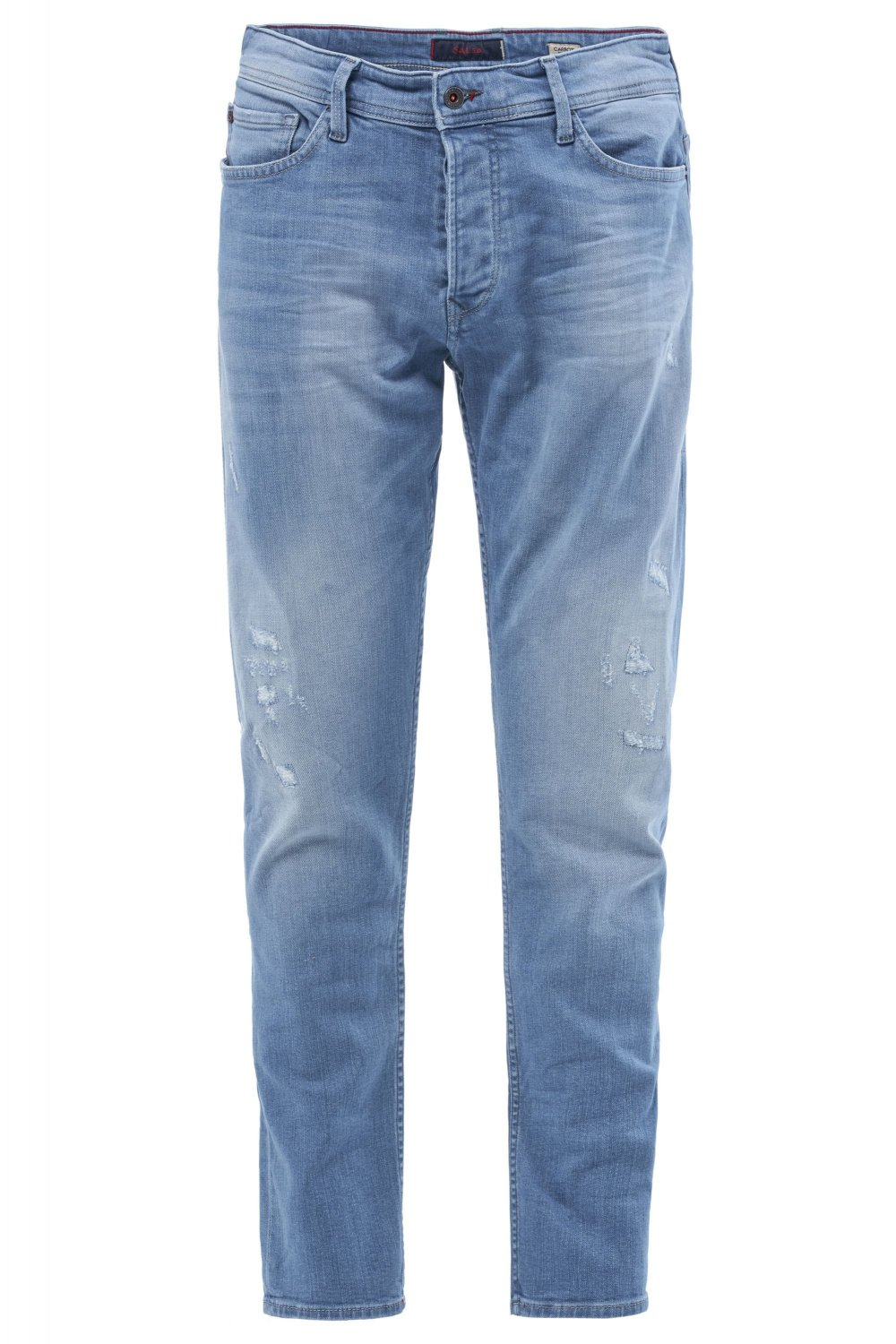 Slender slim premium wash jeans with rips - Salsa
